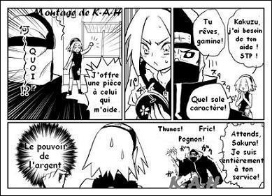 Quelle astuce utilise Sakura pour que Kakuzu vienne à son aide ?
