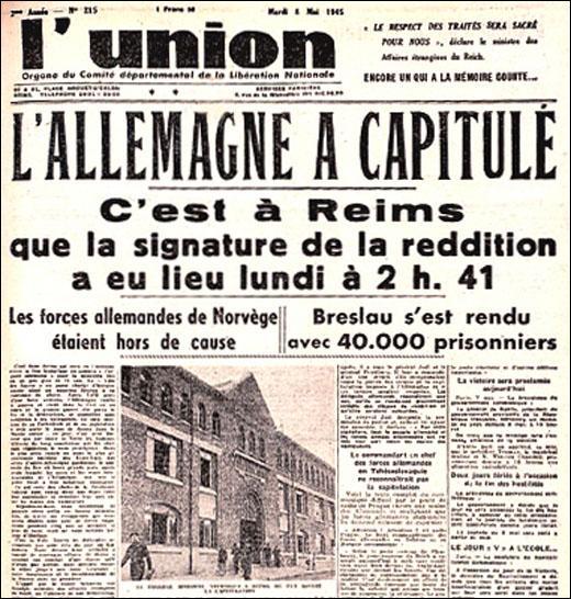 Quand la Seconde Guerre mondiale prit-elle fin en Europe ?
