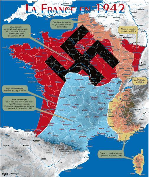 Lors de l'occupation allemande, quelle ville a été choisie comme capitale temporaire de la France ?