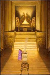 Après pas mal de pérégrinations, l'Arche va enfin trouver un lieu fixe où rester, dans le fameux  Saint des Saints . Où se trouvait cet endroit ?