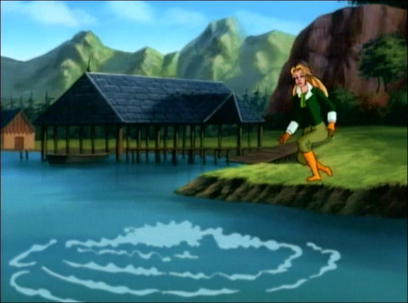 Sur cette image, que va-t-il sortir de l'eau ?