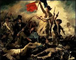 Une femme portant le drapeau français, derrière une foule armée. Quel est ce tableau ?