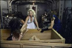 Dans l'épisode spécial Halloween de la saison 3, Aria est enfermée dans une boite que quelqu'un pousse pour la faire tomber du train. Aria est avec un cadavre. Lequel ?