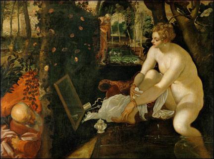 ... vieillards  est un fameux tableau du Tintoret. Cochez la partie manquante du titre !