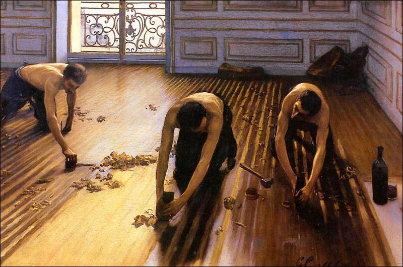 ... parquet  est un célèbre tableau de Caillebotte. Cochez la partie manquante du titre !