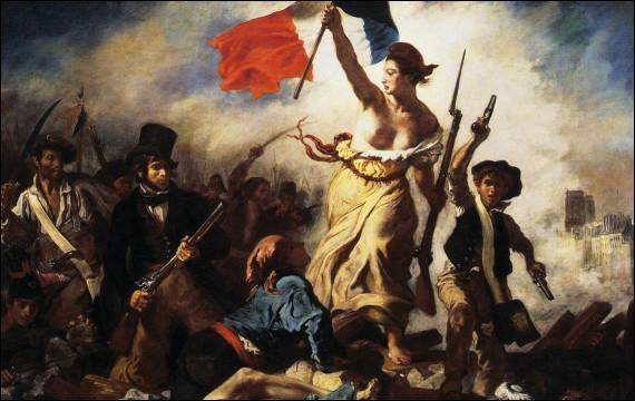 Delacroix a peint  ... peuple . Quel morceau du titre manque-t-il ?