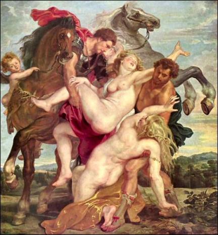 Rubens a peint  ... Sabines . Quel morceau du titre manque-t-il ?
