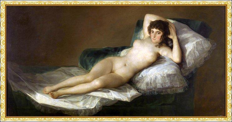 ... nue  est un tableau de Goya très connu. Cochez la partie manquante du titre !