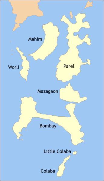Vrai ou faux. Mumbai n'était au début du XIXème siècle qu'un ensemble d'îles avant que cet archipel ne soit réuni par des travaux d'aménagement colossaux pour devenir une unique péninsule.
