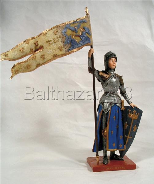 Bannière en pointe de Jeanne d'Arc !