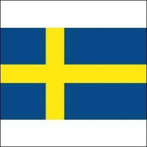 C'est le drapeau de la Suède.