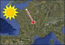 Quelle a été le température maximale lors de la canicule de 2003 en France ?