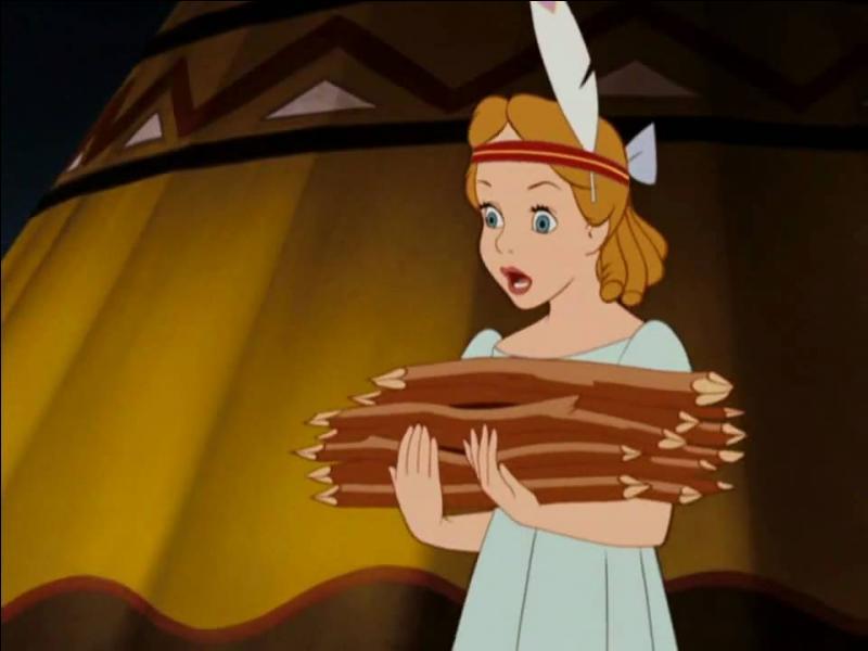 Peter pan : Dans la chanson  Pourqu'Haw , Wendy est privée de fête car elle est chargée de ramasser du bois, comment est-elle appelée par la femme qui lui a donné cet ordre ?