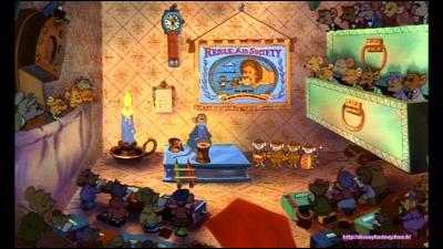 Bernard et Bianca : dans la chanson  SOS société  on apprend le nom de la souris qui a fondé cet institut qui est ?
