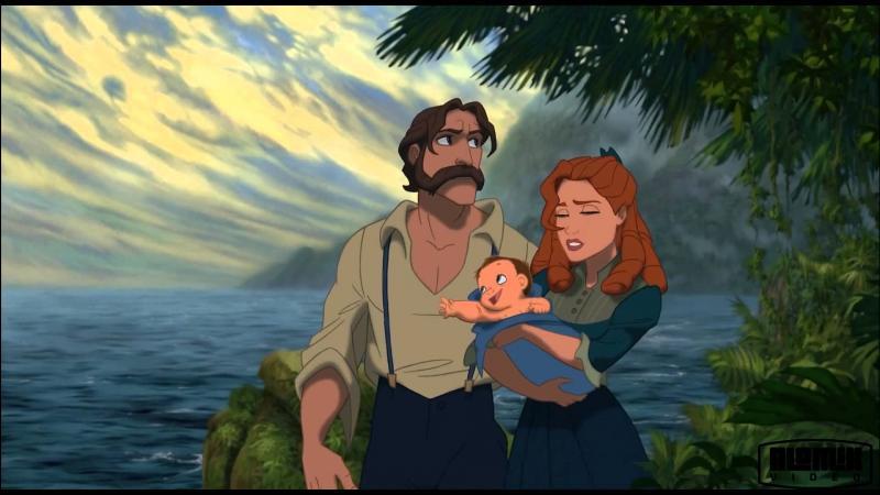 Tarzan : dans la chanson  Entre deux mondes  on peut assister au triste événement de :