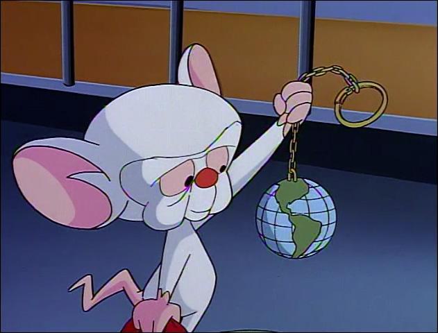 """""""Minus et Cortex"""" est un dessin animé où deux souris de laboratoire veulent conquérir le monde. Qui est ce personnage ?"""