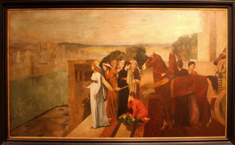 En quelle année Degas réalisa-t-il  Séminaris construisant Babylone  ?