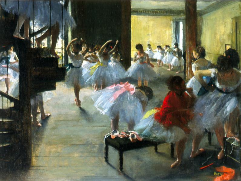 Dans ses peintures, il représenta souvent des danseuses, quelle est cette toile visible à Washington ?