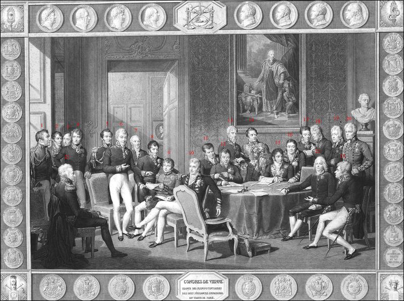 Le congrès de Vienne :