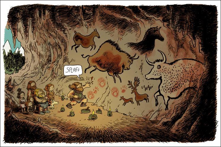 Qui inventa de nombreux instruments, peignit et grava les parois des grottes ?