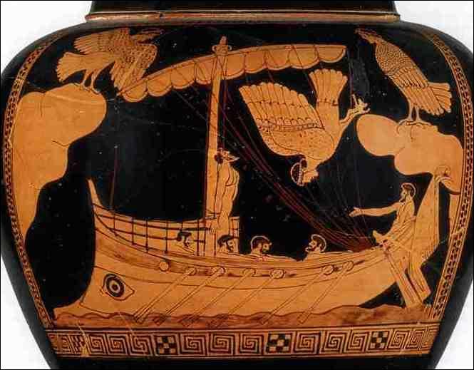 L'homme représenté sur cette poterie est-il Ulysse ?