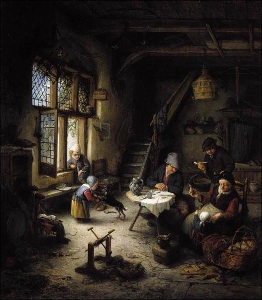 Au Moyen Âge, les soupes des paysans étaient servies :