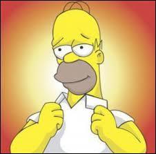 Quelles lettres sont affichées sur la tête d'Homer ?