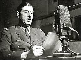 Trouver une date : appel du Général de Gaulle...