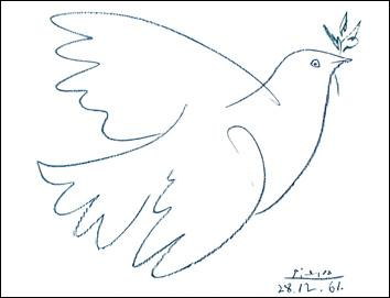 Colombe de la paix , affiche de Pablo Picasso ! Les habitants de cette commune sont :