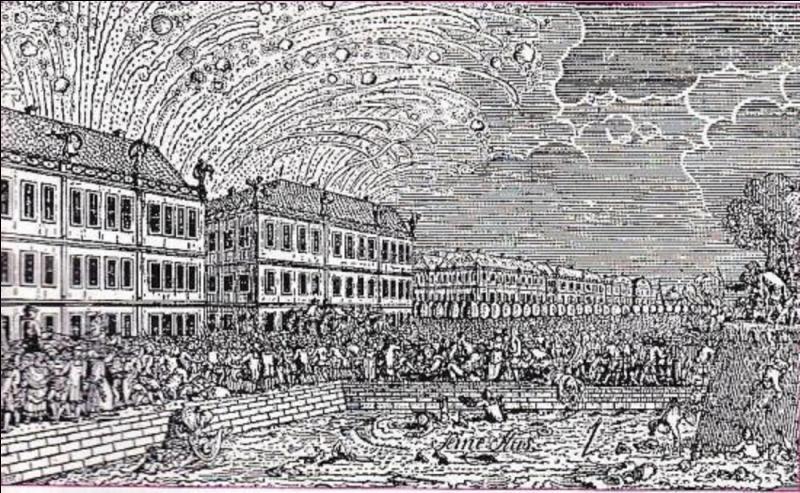 Que se passa-t-il le 30 mai 1770 lors des cérémonies du mariage de Marie-Antoinette et du futur roi, Louis XVI ?