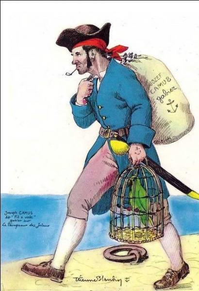 À bord, il était le gabier infatigable, toujours à l'ouvrage, toujours vigilant, toujours leste . Que signifie  gabier  ?