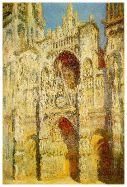 Quelle cathédrale fut représentée bien des fois par Claude Monet ?
