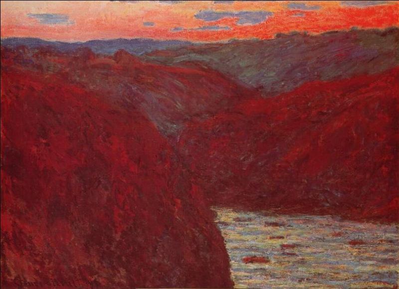 En quelle année réalisa-t-il cette toile intitulée  Creuse soleil couchant  ?