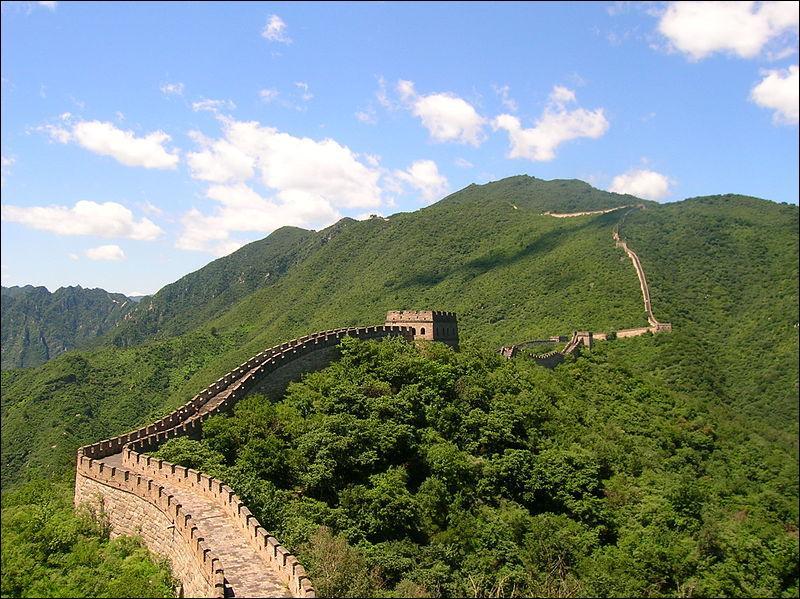 Tout le monde reconnaît la muraille de Chine. Mais par rapport à la Chine où est-elle située géographiquement ?