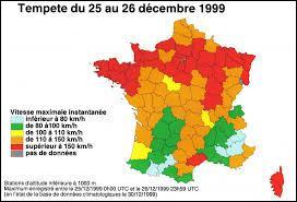 Lors de la Tempête Lothar du 26 Décembre 1999, quelle est la vitesse maximale enregistrée au sommet de la Tour Eiffel ?