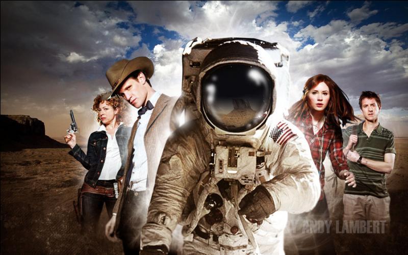 """Dans l'épisode """"L'Impossible astronaute"""", le Docteur invite ses amis à la plage."""
