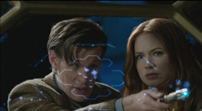 Même épisode. Comment le Docteur & Amy se rendent-ils sur le vaisseau ?