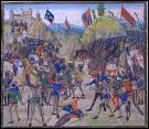 Nous sommes en 1346, les soldats français se battent contre les infâmes Anglais. C'est la défaite, nous avons perdu la bataille de ----.