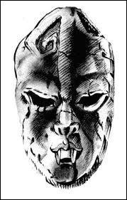 Quelle est la particularité du masque de pierre ?