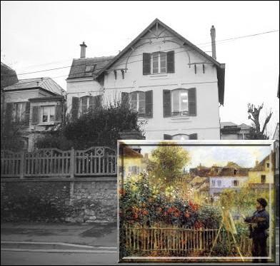 A l'hiver 1871, il s'installe avec sa famille dans cette commune située au nord ouest de Paris sur l'un des méandres de la Seine, lieu de détente favori des plaisanciers et amateurs de voile et de canotage...