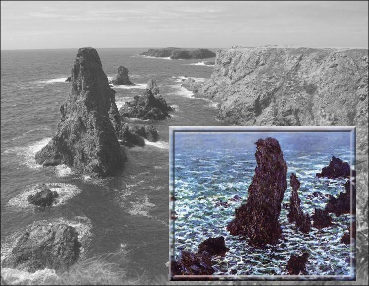 A la recherche de nouveaux paysages, il séjourne en septembre 1886 à Belle-Île pendant deux mois. Il repartira avec 40 peintures, telle que cette toile intitulée...