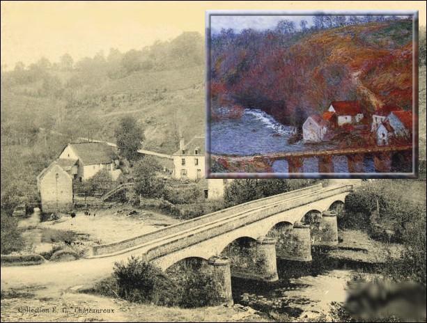 Le temps d'un séjour chez son ami poète Maurice Rollinat, quelle rivière immortalise-t-il au printemps 1889 ?