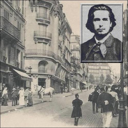 En 1859, il part à Paris pour y étudier la peinture à l'Académie suisse. Quel peintre qui deviendra son ami y rencontre-t-il ?