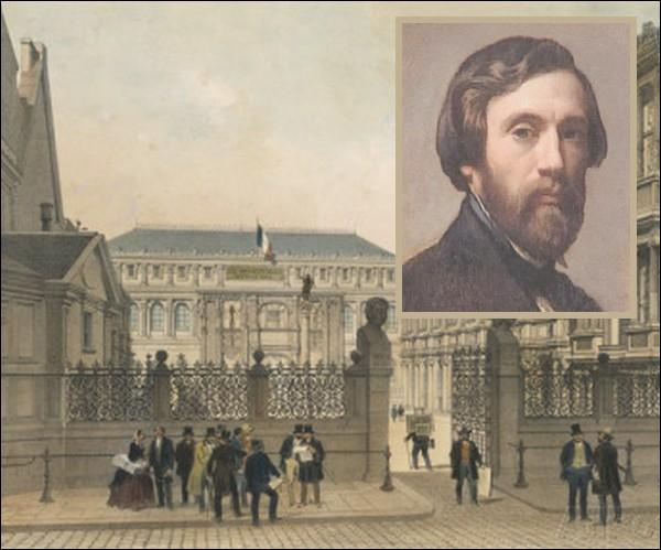 La même année en 1862, il commence à étudier l'art dans l'atelier de l'École impériale des beaux-arts de Paris dirigé par...