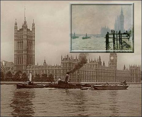 En 1870, où Monet s'exile-t-il, refusant de servir dans l'armée de Napoléon III ?