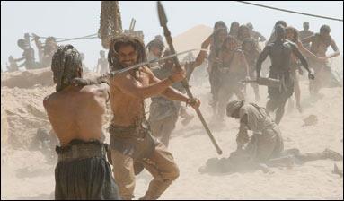 """Comme son titre ne l'annonce pas spécialement, l'action du film """"10 000"""" se passe 10 000 ans avant Jésus-Christ, cette photo n'a donc rien d'anormal !"""