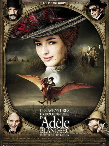 """Dans le film """"Adèle Blanc-Sec"""", dont l'action se déroule en 1912, Adèle chante """"Mon truc en plumes"""" !"""
