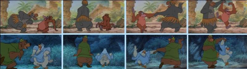 """Comme vous pouvez le voir, les quatre images du haut sont tirées du film """"Le Livre de la Jungle"""", les quatre images du bas sont tirées du film """"Les Aventures de Bernard et Bianca"""" !"""