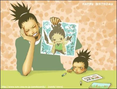 Qu'a fait Shikamaru pour l'anniversaire de son père ?