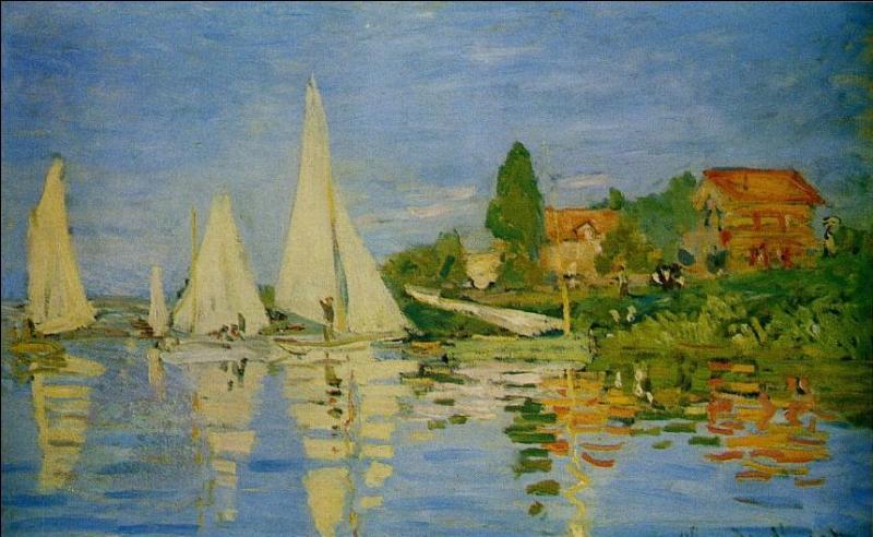 """A la mort de son père, en 1874, il se retrouve à l'abri du besoin, et se met à collectionner les oeuvres d'art, faisant l'acquisition des toiles de ses amis impressionnistes, les aidant aussi financièrement. A qui achète-t-il en 1876, cette toile intitulée """"Régates à Argenteuil"""" ?"""